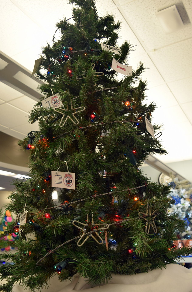 Gillham Fencing's tree at Sterling Public Library's 2017 Parade of Trees.