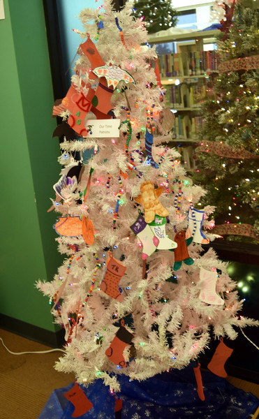 Our Time Patrons' tree at Sterling Public Library's 2017 Parade of Trees.