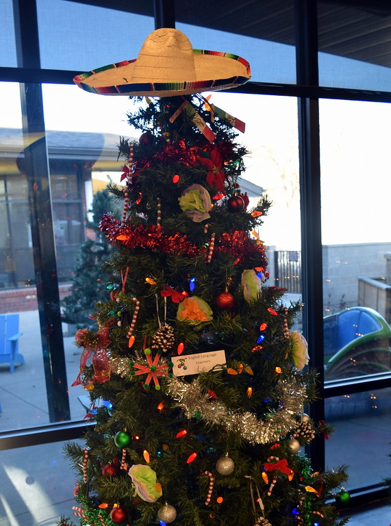 . English Language Learners\' tree at Sterling Public Library\'s 2017 Parade of Trees.