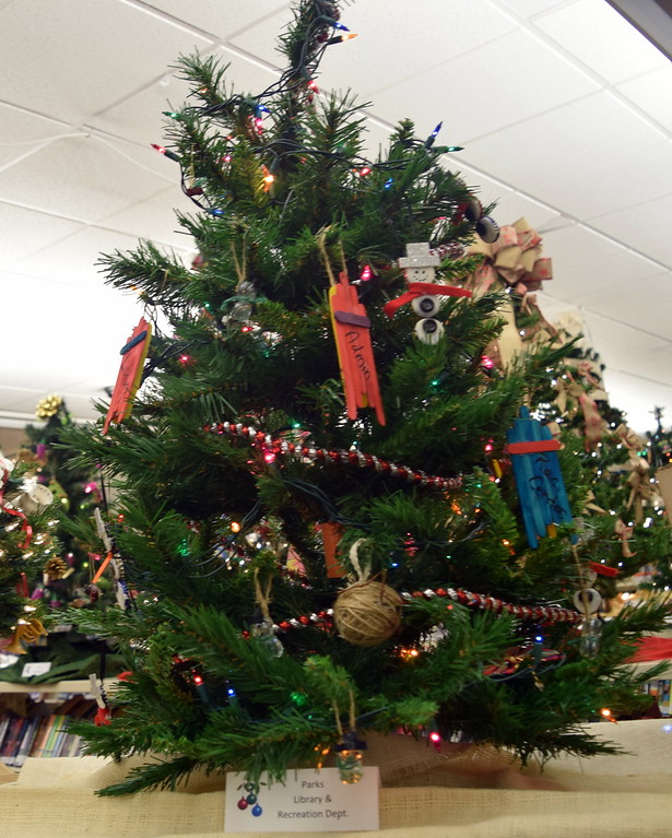. Parks, Library and Recreation Department\'s tree at Sterling Public Library\'s 2017 Parade of Trees.