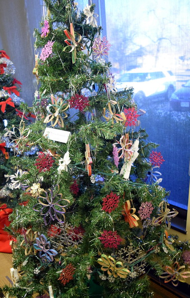 Family Resource Center's tree at Sterling Public Library's 2017 Parade of Trees.