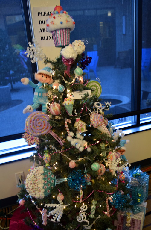 . Jaeger/Peterson Family\'s tree at Sterling Public Library\'s 2017 Parade of Trees.