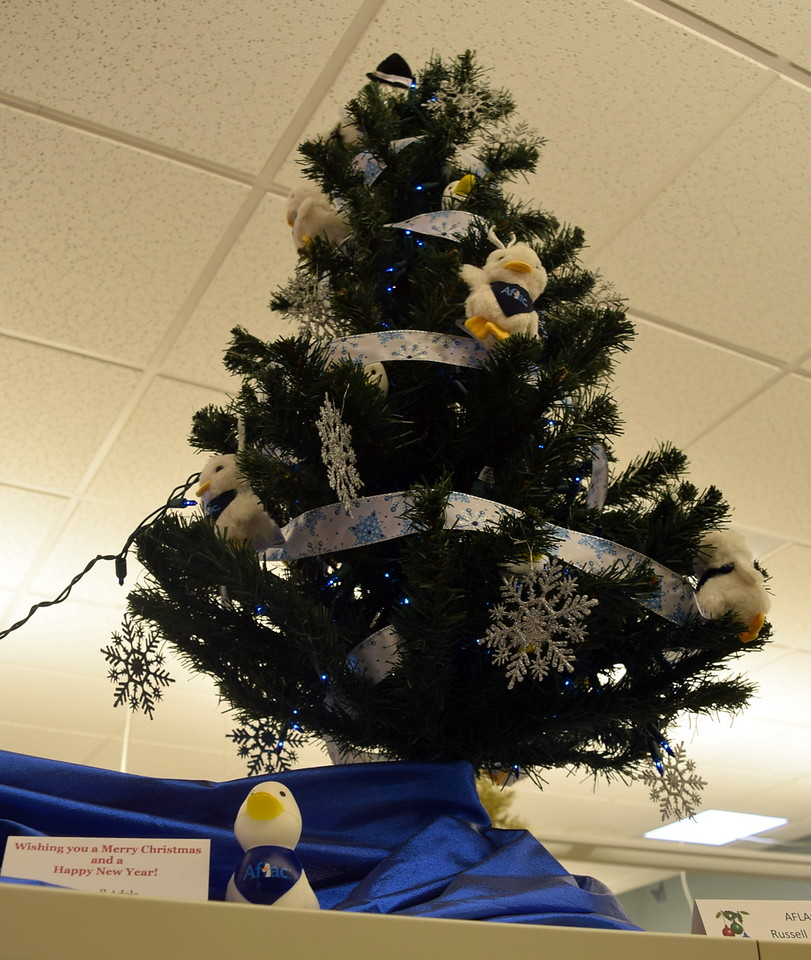 AFLAC Russell Adels' tree at Sterling Public Library's 2017 Parade of Trees.