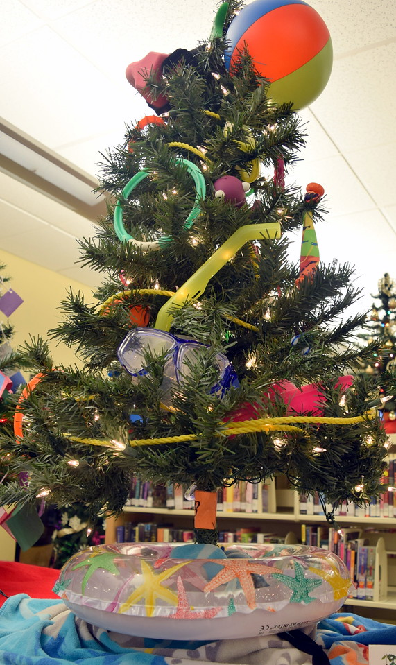 Sterling Recreation Center's tree at Sterling Public Library's 2017 Parade of Trees.