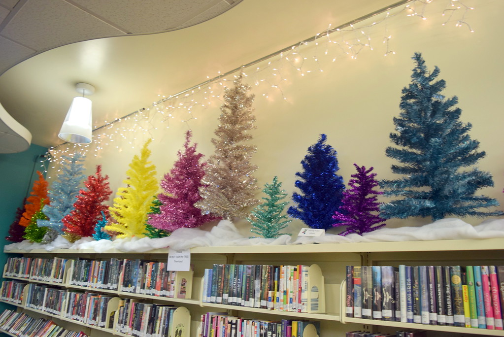 . Sterling Public Library is filled with Christmas trees for the 2017 Parade of Trees.