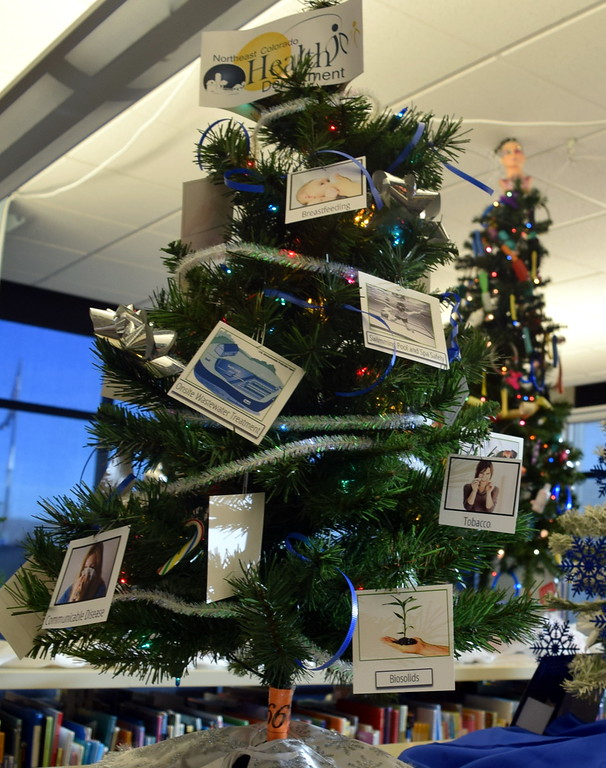 . Northeast Colorado Health Department\'s tree at Sterling Public Library\'s 2017 Parade of Trees.