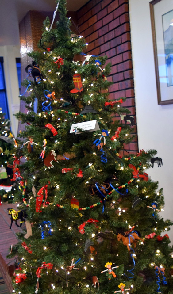 100 Years of Gillham Rim Ranch's tree at Sterling Public Library's 2017 Parade of Trees.
