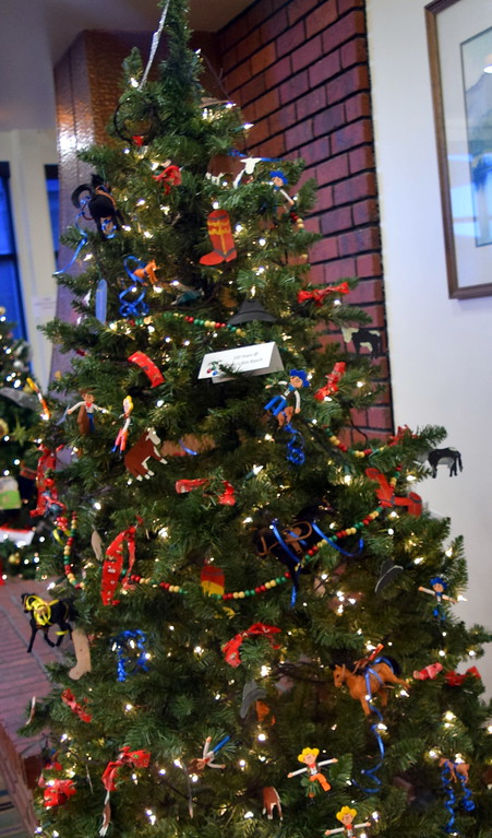 . 100 Years of Gillham Rim Ranch\'s tree at Sterling Public Library\'s 2017 Parade of Trees.
