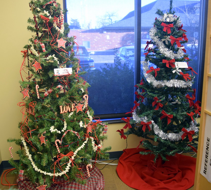 City of Sterling's tree and another Christmas tree are part of Sterling Public Library's 2017 Parade of Trees.