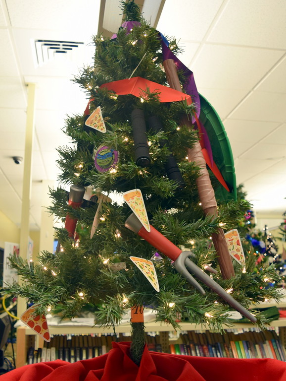 . Erica Kallsen\'s tree at Sterling Public Library\'s 2017 Parade of Trees.