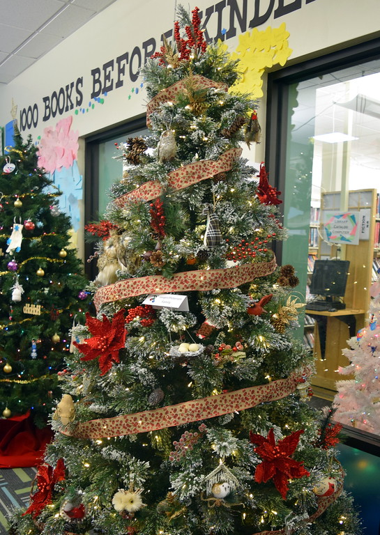 . Jaeger/Petersen Family\'s tree at Sterling Public Library\'s 2017 Parade of Trees.