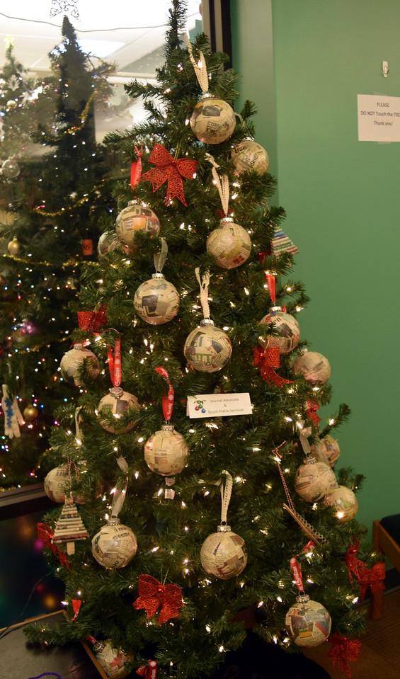 Journal-Advocate/South Platte Sentinel's tree at Sterling Public Library's 2017 Parade of Trees.