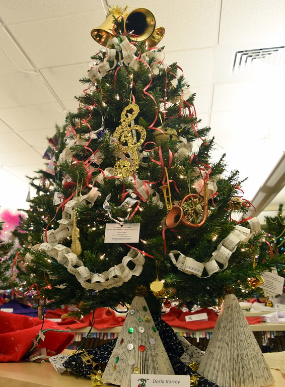 . Darla Korrey\'s tree at Sterling Public Library\'s 2017 Parade of Trees.
