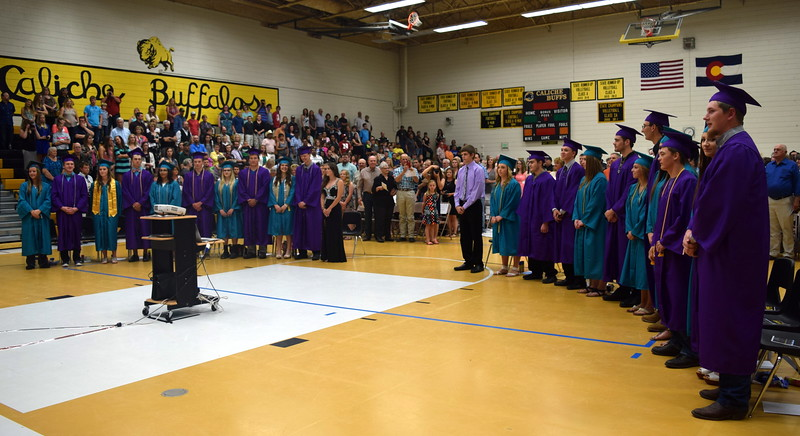 Graduates wait to be seat at Caliche High School's Commencement Exercises Saturday, May 28, 2016.