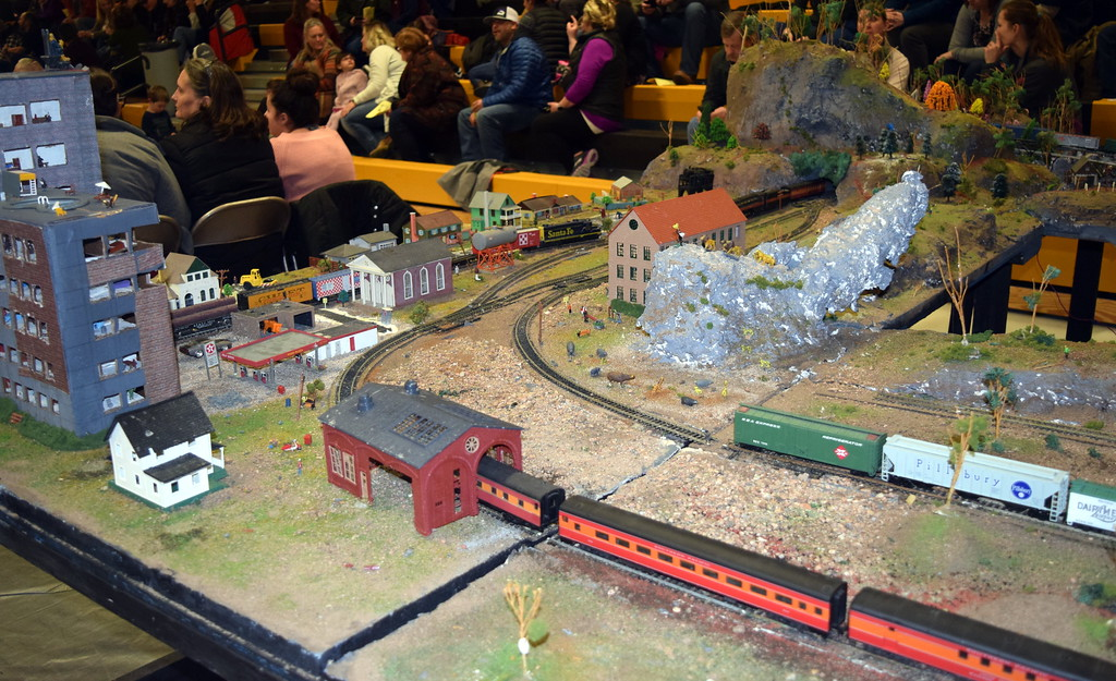 ". ""The World Express (Train)\"" was among the exhibits on display at Caliche School\'s Visual and Performing Arts Show Tuesday, Feb. 26, 2019."