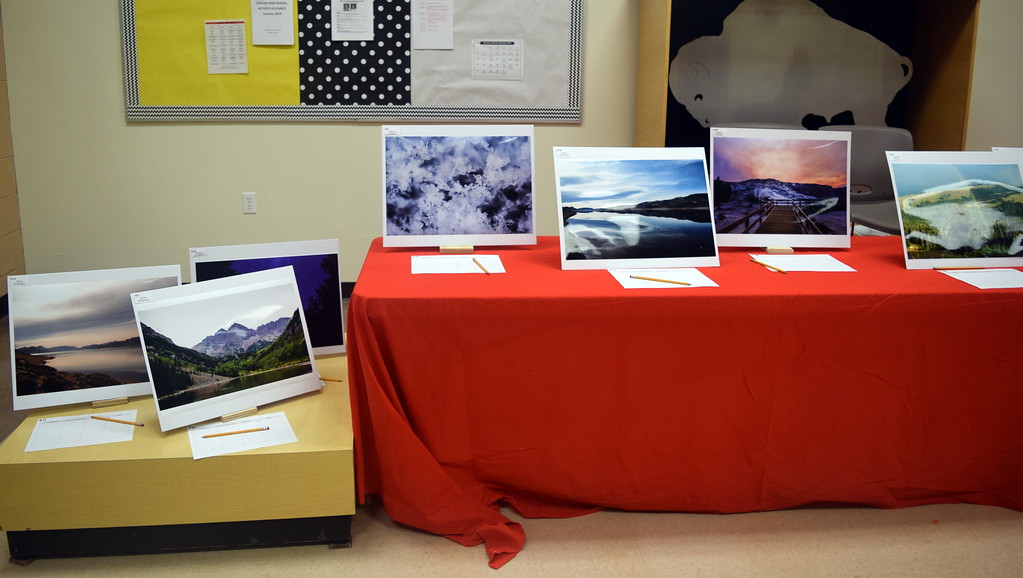 . Photographic artwork created by Caliche School students was on display at the school\'s Visual and Performing Arts Show Tuesday, Feb. 26, 2019.