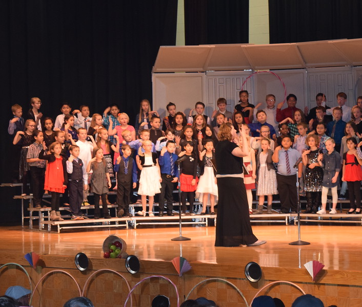 "Campbell Elementary third grade singers perform ""My Aunt Came Back,"" under the direction of Janelle Nicolaus, during their ""American Folk Songs"" program Tuesday, Nov. 29, 2016."