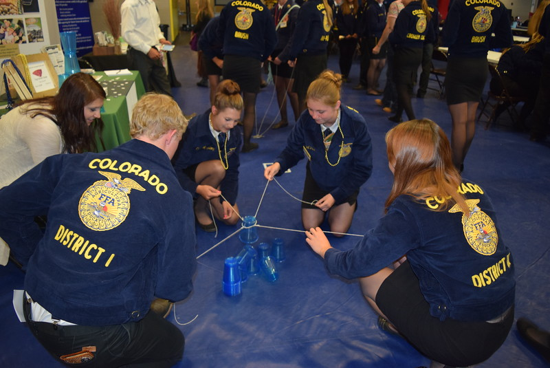 There was also an opportunity for fun and games at the SAE (Supervised Agricultural Experiences) Career Fair during the Colorado FFA State Convention Wednesday, June 8, 2016.