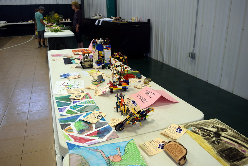 A variety of crafts were display among the exhibits at Crook Community Center during the Crook Fair Saturday, July 29, 2017.