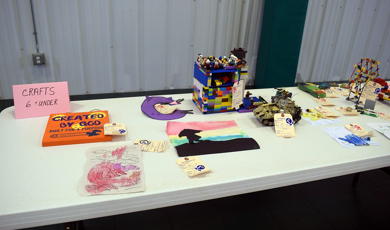Crafts made by individuals over the age 6 and under were on display as part of the exhibits at the Crook Community Center during the Crook Fair Saturday, July 29, 2017.