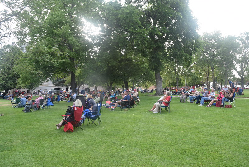 A crowd came out to enjoy the music of Dotsero at the Transwest Concerts on the Green...July Jamz concert, Friday, July 15, 2016.