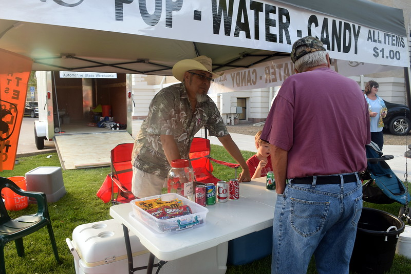 Customers stopped by Sterling Arts Council's booth for pop and candy during the Transwest Concerts on the Green...July Jamz concert Friday, July 15, 2016. The Sterling Arts Council presents the July Jamz concert series every July.