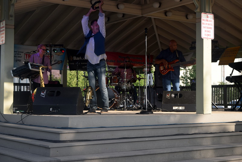 Members of the Dotsero jazz band perform Friday, July 15, 2016, at the Transwest Concerts on the Green...July Jamz concert.