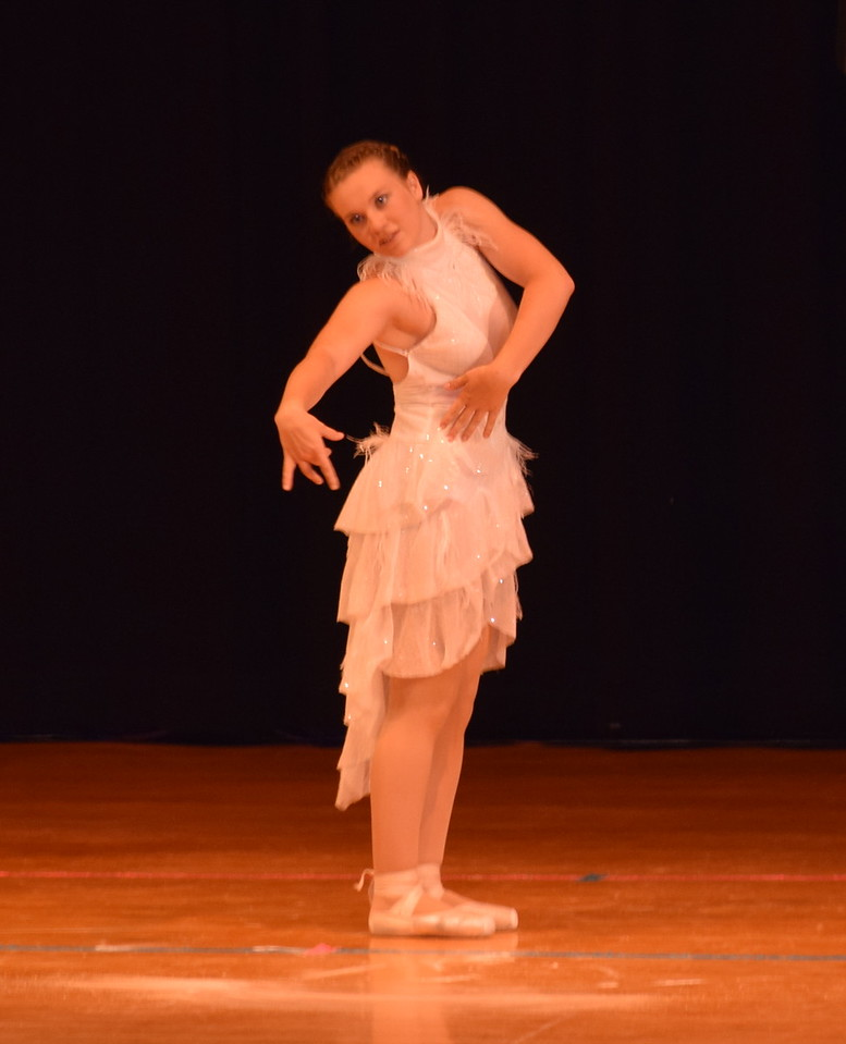 "Madyson Johnstone dances to ""Man in the Mirror"" at Durante's Dance Studio's spring recital Saturday, June 10, 2017."