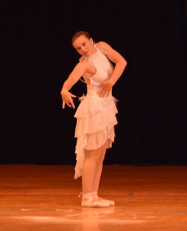 ". Madyson Johnstone dances to \""Man in the Mirror\"" at Durante\'s Dance Studio\'s spring recital Saturday, June 10, 2017."