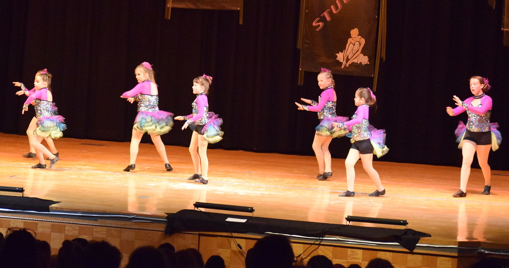 """. Tilly Foote, Samantha Seger, Lily Miller, Hadley Kerst, Alexis Nelson, Taryn Thayer and Sujey Bustillos dance to \""""Take My Breath Away\"""" at Durante\'s Dance Studio\'s spring recital Saturday, June 10, 2017."""