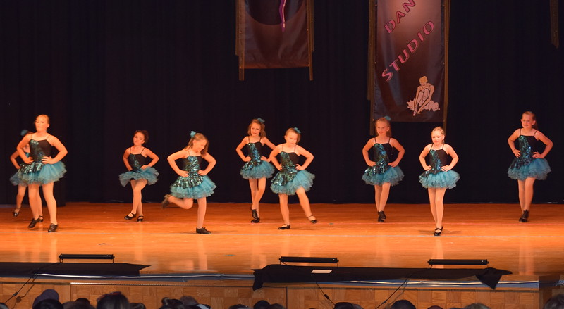 "Amelia Hupke, McKenzie Beck, Kaina Carrasco, Bailey Workman, Courtney Canada, Macie Doherty, Addie Unrein, Jaidynn Reiman and Taryn Seifried dance to ""Me Too"" at Durante's Dance Studio's spring recital Saturday, June 10, 2017."