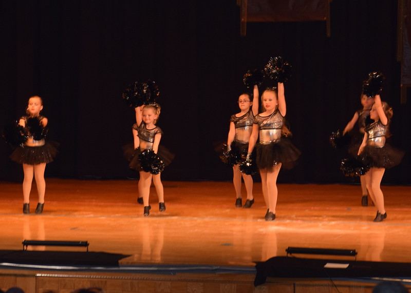"Jordan Kuehl, McKenzie Beck, Zooey Knorr, Sophie Brown, Bailey Workman, Piper Withers and Taylor Fouch dance to ""We Got the Beat"" at Durante's Dance Studio's spring recital Saturday, June 10, 2017."