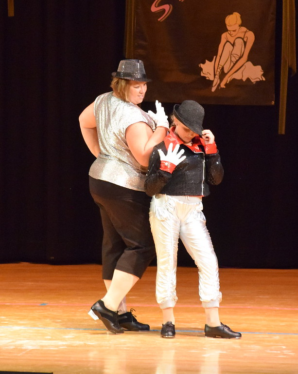 """. Misty and Courtney Canada dance to \""""Beat It\"""" at Durante\'s Dance Studio\'s spring recital Saturday, June 10, 2017."""