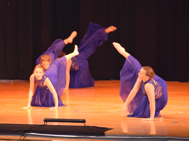 "Dancers perform to ""Million Reasons"" at Durante's Dance Studio's spring recital Saturday, June 10, 2017."