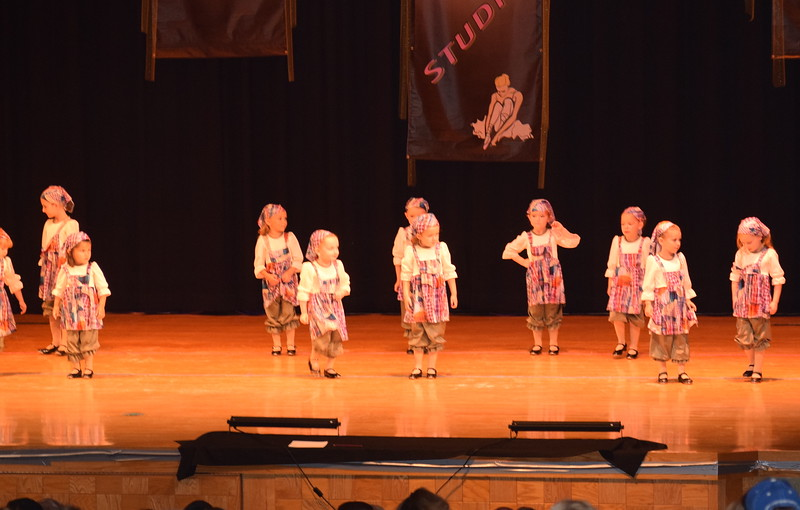 "Joy Soukup, Lizabeth Aucoin, Emma Scheopner, Amiyah Steele, Kadence Hooton, Khloe McBride, Peyton Veik, Alyson Burton, Marly Mentzel, Charloette Hostetler, Brooke Higgins, Landree Ulrich, Paisley Spahn and Emma Lerdal dance to ""Hard Knock Life"" at Durante's Dance Studio's spring recital Saturday, June 10, 2017."