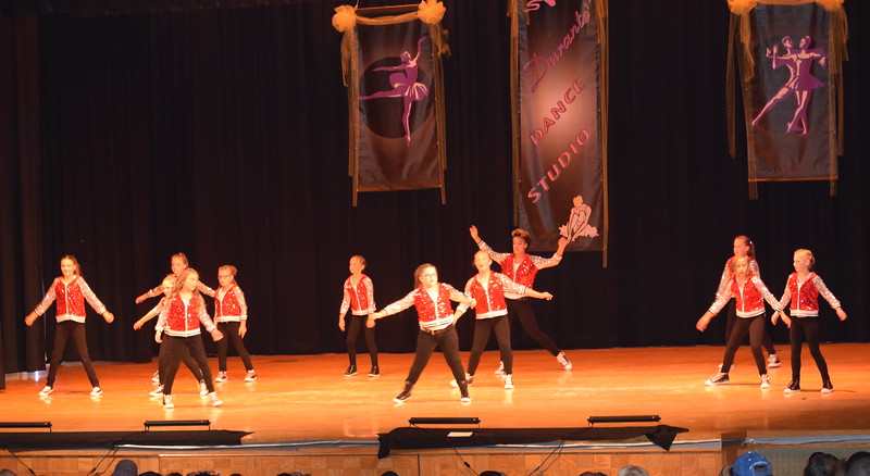 "Haleigh Bunnell, Keyarria Walton, Teagan Tennant, Shylah Pace, Courtney Canada, Jaiden Steele, Macie Doherty, Adonika Bolt, ShayLeigh Ulrich, Addison Prusha, Kayle Unrein and Kaina Carrasco dance to ""Do My Step"" at Durante's Dance Studio's spring recital Saturday, June 10, 2017."