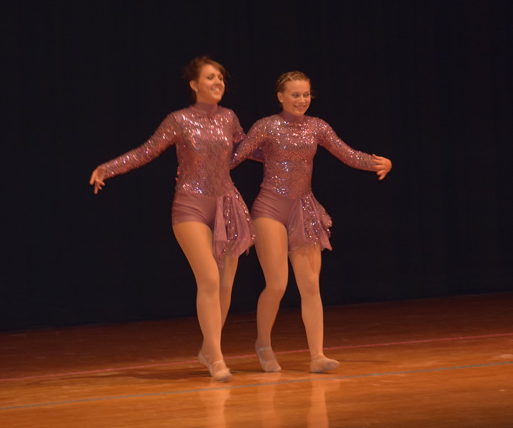 "Madyson Johnstone and McKenzie Crowe dance to ""A Thousand Years"" during Durante Dance Studio's spring recital, ""Wishes From Above,"" Friday, June 3, 2016."