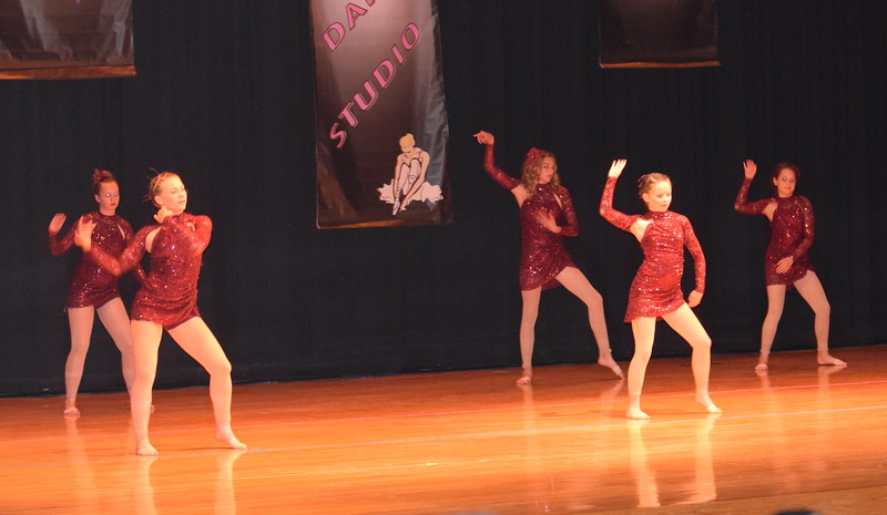 "Lauren Rice, Madyson Johnstone, Chloe Fisher, Aly Youny and Vanessa Bonn dance to ""Lil Darlin"" during Durante Dance Studio's spring recital, ""Wishes From Above,"" Friday, June 3, 2016."