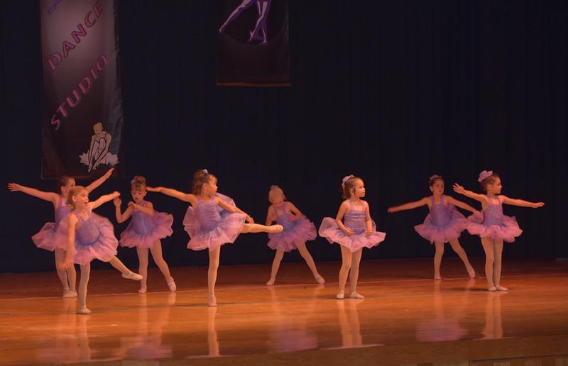 "Gracie Davis, Laurel Julius, Seriah Lueth, Zoey Annis, Jocelynn Trickler, Taylor Futch, Abrielle Seyfang and Joslynn Pennington dance to ""Love Story"" during Durante Dance Studio's spring recital, ""Wishes From Above,"" Friday, June 3, 2016."