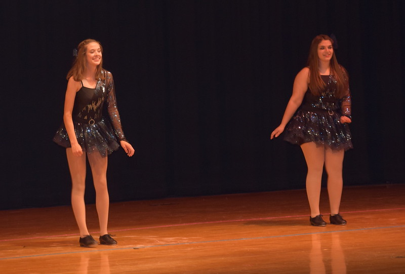 "Danessa Allen and Emily Bournia dance to ""Just One Yesterday"" during Durante Dance Studio's spring recital, ""Wishes From Above,"" Friday, June 3, 2016."