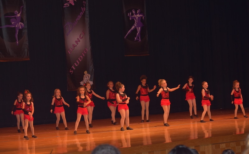 "Taylor Swan, Kami Neel, Kaina Carrasco, Josette Kerst, Taryn Seifried, Makenzie Beck, Courtney Canada, Hayden Walker, Katie Roberts, Paige McCanley, Bailey Workman and Kaebrynn Heller dance to ""Levels"" during Durante Dance Studio's spring recital, ""Wishes From Above,"" Friday, June 3, 2016."