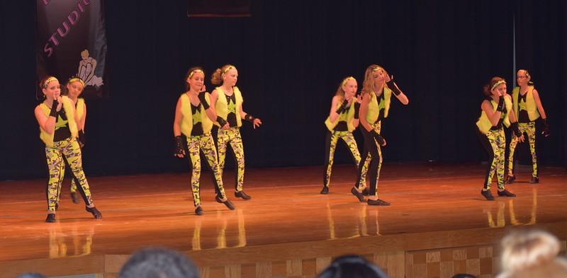 "Jillian Matthews, Adonika Bolt, Lauren Rice, Masi Wells, Chloe Fisher, Cahlie Kerker, Sarah Maker and Cailyn Brecht dance to ""Hey Mama"" during Durante Dance Studio's spring recital, ""Wishes From Above,"" Friday, June 3, 2016."