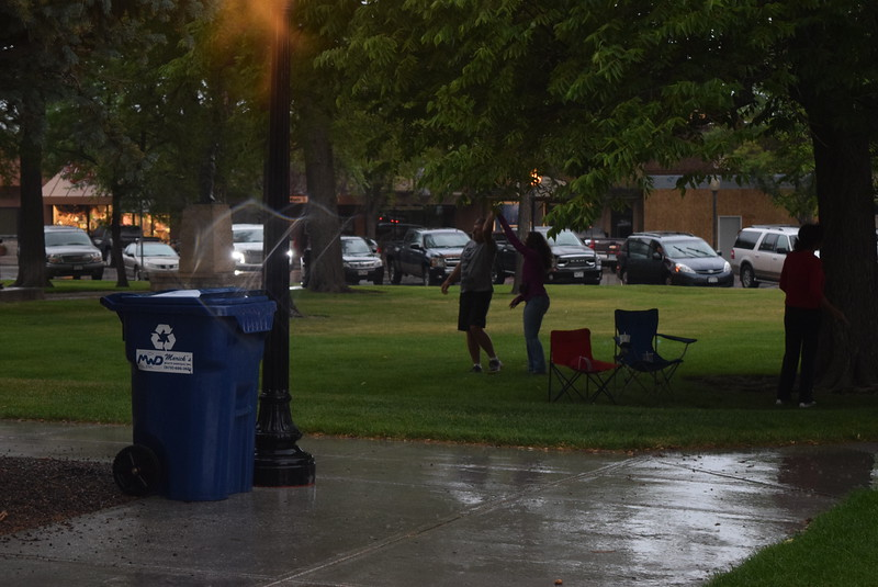 The rain didn't stop some people from having a good time dancing at the opening of the July Jamz concert series Friday, July 1, 2016.
