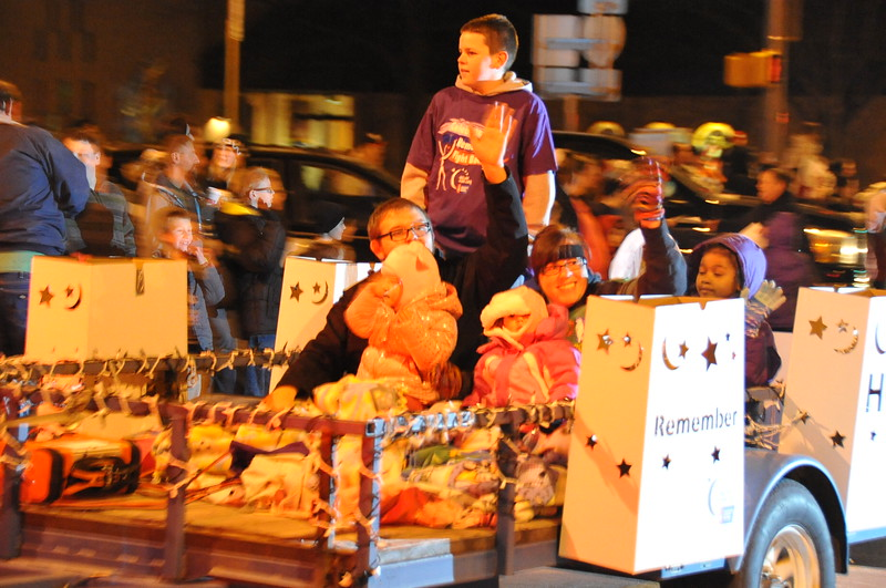 Relay For Life of Logan County float in the Logan County Chamber of Commerce's Parade of Lights , Dec. 4, 2014, in downtown Sterling