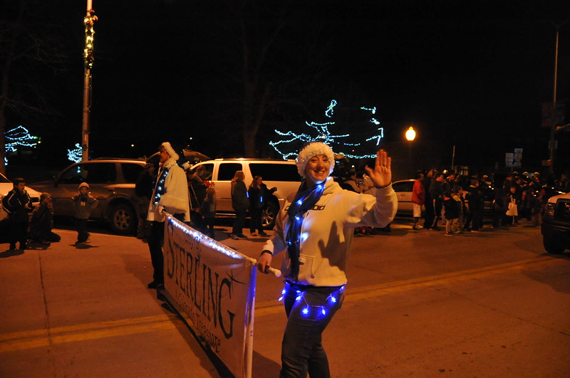 City of Sterling employees in the Logan County Chamber of Commerce's Parade of Lights , Dec. 4, 2014, in downtown Sterling