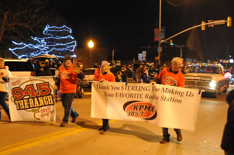 Northeast Colorado Broadcasting in the Logan County Chamber of Commerce's Parade of Lights , Dec. 4, 2014, in downtown Sterling
