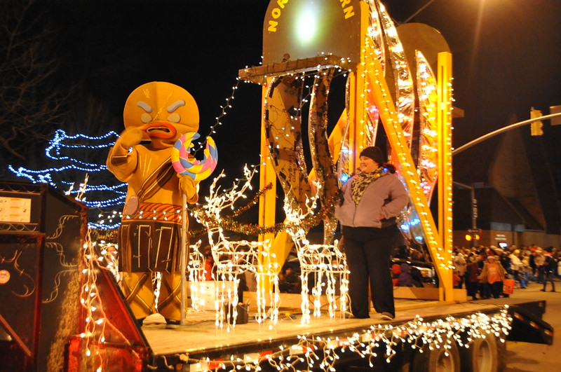 Northeastern Junior College's entry in the Parade of Lights 2014