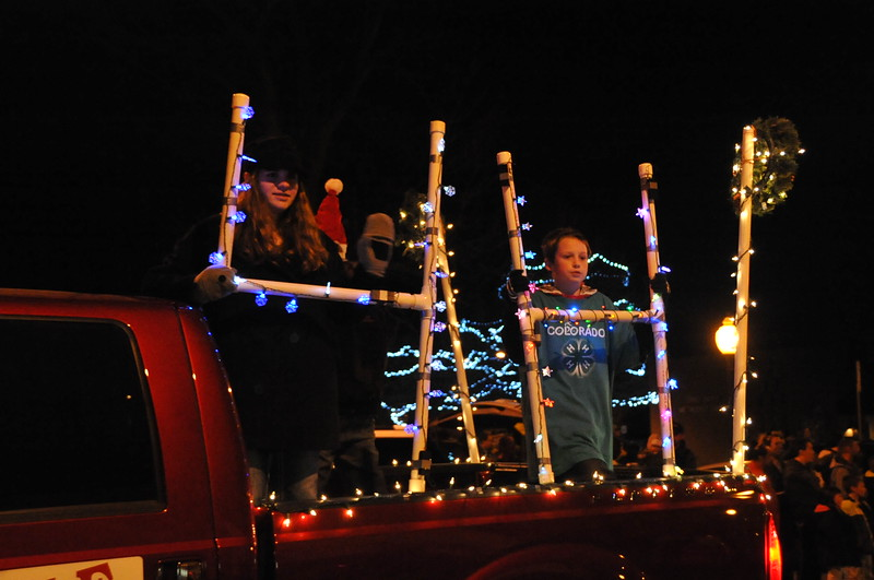 Logan County 4-H float in the Logan County Chamber of Commerce's Parade of Lights , Dec. 4, 2014, in downtown Sterling