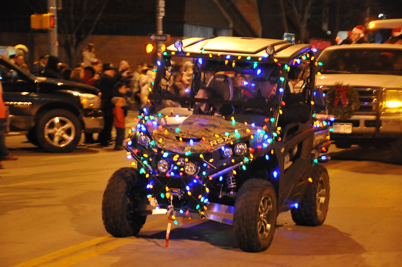At the Logan County Chamber of Commerce's Parade of Lights , Dec. 4, 2014, in downtown Sterling