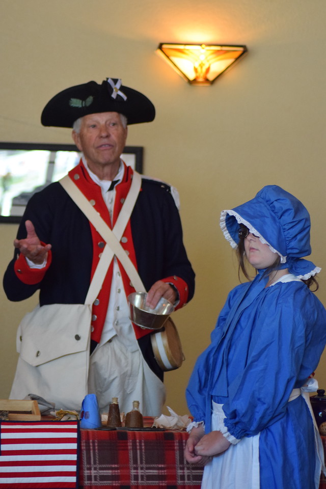 Patriots Chest presentation by the Sons of the American Revolution at the Overland Trail Museum's 2017 Heritage Festival.